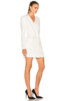Image 3 of Veronica Beard Carlyle Blazer Dress in Off White