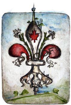 Canada :: Fleur De Lis - Worlds Within Series 2 (Fine Art) by Candice Alexander Three Fold, Art Object, The Past, Objects, Canada, Symbols, Fine Art, Paris, Creative