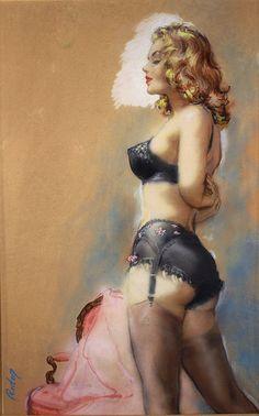 "Paul Rader - Original Artwork for Midwood 56 ""The Blonde"""