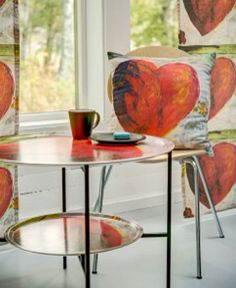 Flower Power Heart - Brickbord & textil  Carina Flodin Design