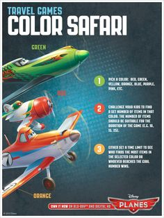 Take off on a color safari from #DisneyPlanes