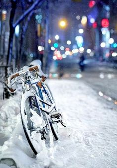 snowy ride .. stopped for coffee, I bet.