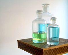 Vintage Pyrex Laboratory Glass Bottles by 5gardenias, $98.00