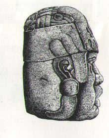 Monument 5: 1.86m (6.1 ft) high. current location, Jalapa Museum of Anthropology.