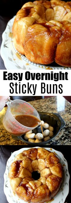 Easy Overnight Cinnamon Sticky Buns would be perfect for your holiday breakfast! Overnight Breakfast, Best Breakfast, Breakfast Recipes, Dessert Recipes, Morning Breakfast, Breakfast Dishes, Dessert Ideas, Breakfast Ideas, Cinnamon Bun Recipe