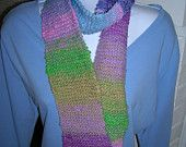 Hand-knitted scarf in beautiful NORO Taiyo yarn in a rainbow of colors  $27 at www.suchagirl.etsy.com