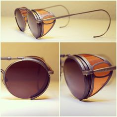 Vintage Matsuda Sunglasses Terminator 2 Sarah Conner Steampunk Must Have .where can I find the black version? Steampunk Glasses, Steampunk Dress, Steampunk Goggles, Steampunk Couture, Steampunk Fashion, Gothic Steampunk, Steampunk Drawing, Steampunk Outfits, Steampunk House