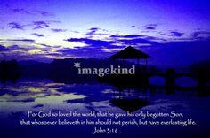 Water Pierce , John 3:16