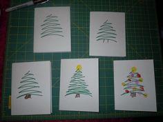 Fingerprint Christmas Cards, Creative Homemade Christmas Cards Showcase, http://hative.com/homemade-christmas-cards/,