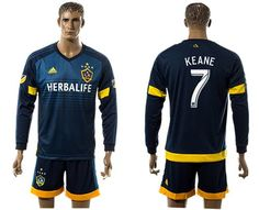 los angeles galaxy 7 keane away long sleeves soccer club jersey free shipping and 60