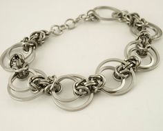 Stainless Steel Chainmaille Bracelet Kit - Intermediate Staggered Byzantine Weave - Unique Style on Etsy