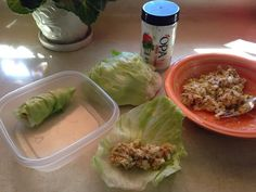 shaking up Lunch...tuna lettuce wraps