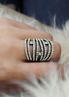 Stacked layers of diamond #ring
