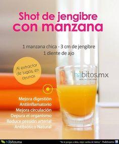 Hábitos Health Coaching   SHOT DE MANZANA CON AJO