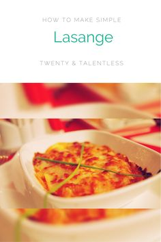How To Make Lasange For Students