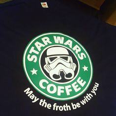 May the froth be with you! Handmade t-shirt by southernrebelclothin.etsy.com