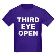 Children's dark color purple t-shirt with Third Eye Open theme. Third Eye Open is speaking about the synchronization of glands in the brain that give metaphysical awareness beyond the five senses. Available in black, red, navy blue, royal blue, purple; kids x-small, kids small, kids medium, kids large, kids x-large size for only $23.99. Go to the link to purchase the product and to see other options – http://www.cafepress.com/stteo