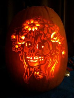 """2013 Winner of """"Silliest"""" category: Angie H. of Corona, California. Think you've got what it takes to carve the perfect pumpkin? Enter the Pumpkin Masters 2014 Carving Contest, October 1st through 31st."""