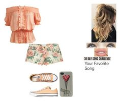 """""""30 Day song challenge: Day 1"""" by ilovecats-886 ❤ liked on Polyvore featuring Arden B., Current/Elliott, Converse and With Love From CA"""