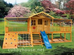 Cubbyhouse kits : Diy Handyman Cubby house : Slightly Elevated Cubbies : Chipmonk Kindy Gym Kids Outdoor Play, Kids Play Area, Backyard For Kids, Outdoor Fun, Cubby Houses, Play Houses, Backyard Playground, Backyard Playset, Playground Ideas