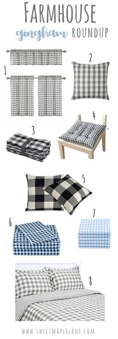 Add a little farmhouse charm to your home with these gingham decor items