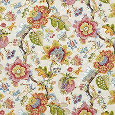 Wonderland Pearl by Calico Corners.see design book for upholstery ideas. Design Textile, Textile Patterns, Textiles, Floral Patterns, Paisley, Fabric Wallpaper, Of Wallpaper, Motif Floral, Floral Prints