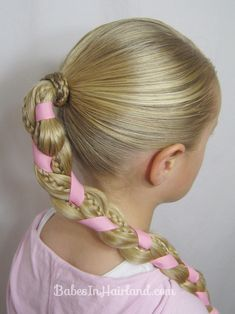 Braids and Ribbon Hairstyle  http://babesinhairland.com/hairstyles/braids-and-ribbon-hairstyle/
