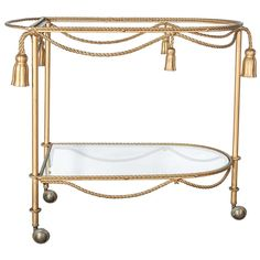 Italian Rope & Tassel Bar Cart