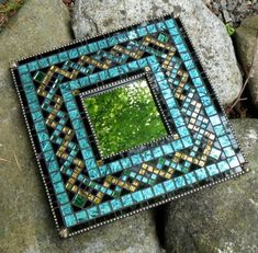 Custom Mosaic Mirror by MosaicObsession on Etsy Stained Glass Mirror, Stained Glass Birds, Mirror Mosaic, Mosaic Diy, Mosaic Garden, Mosaic Crafts, Mosaic Projects, Mosaic Wall, Mosaic Glass