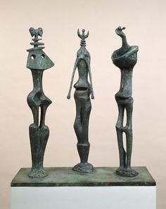 Henry Moore, Three Standing Figures, 1953