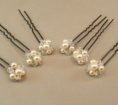 Wedding Hair Accessories Pearl and Crystal by BridalDiamantes