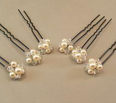 Wedding Hair Accessories Pearl and Crystal by BridalDiamantes