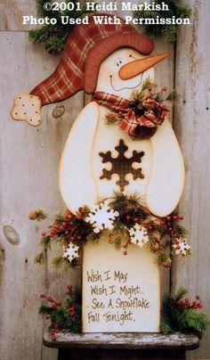 000455 (1) Wish I May Snowman-