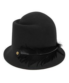 Another great find on #zulily! Magid Black Feather Wool-Blend Cloche by Magid #zulilyfinds
