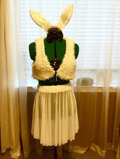 White Rabbit Costume size Medium by oneenchantedwardrobe on Etsy