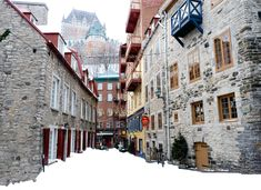 Photographic evidence as to why one must witness Quebec City in winter at least once in one's lifetime + helpful tips for planning a memorable trip. Beautiful Streets, Beautiful Places, Quebec Winter, Canadian Travel, Winter Is Here, Winter Time, Canada, Quebec City, London Travel