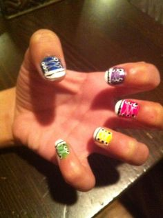 Evangeline showed me a pic of Van nail art she liked so  I did it for her