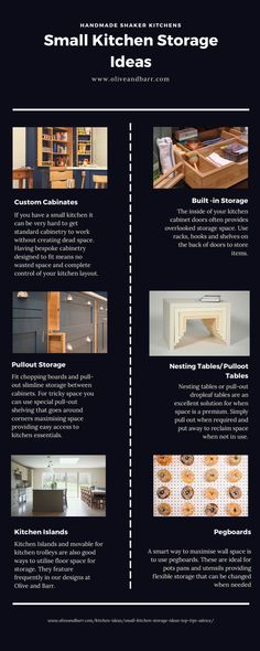 Small Kitchen Storage Tips, Solutions & Advice Kitchen Cupboard Storage, Above Kitchen Cabinets, Small Kitchen Storage, Functional Kitchen, Kitchen Worktop, Hanging Storage, Built In Storage, Kitchen Centerpiece, New Kitchen Designs