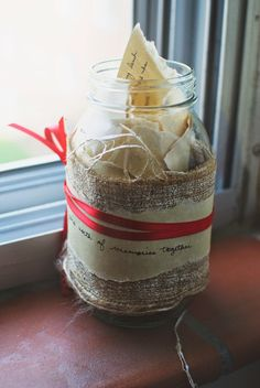 Memory Jar Valentine's Day Gift | One of 30 Last-Minute DIY Gifts for Your Valentine over at the thinking closet!