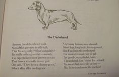 "Cute vintage poem ""The Dachshund by Edward Anthony at my pup's blog :-)"