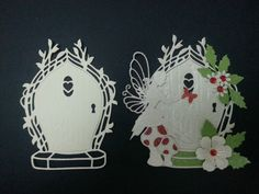 TONIC WHITE CARD FAIRY DOOR DIE CUTS CARDS SCRAPBOOK TOPPERS in Crafts, Cardmaking & Scrapbooking, Die-Cut Shapes & Punchies | eBay Embossing Stamp, Tonic Cards, Paper Art, Paper Crafts, Fairy Coloring, Birthday Cards For Women, Fairy Doors, Die Cut Cards, Flower Frame