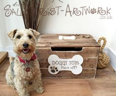 Doggy Toy Box - Handmade, unique and totally GORGEOUS! by SallyGristArtwork on Etsy https://www.etsy.com/listing/199896092/doggy-toy-box-handmade-unique-and
