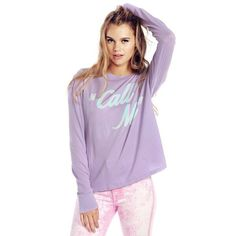 """•Wildfox """"call me"""" tee• •Wildfox Rare Barbie dream house """"call me"""" top• color: Zinfandel• now taking offers• list price is not actual price• sold out• Wildfox Tops Tees - Long Sleeve"""