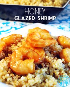 This honey glazed shrimp uses a marinade of honey, teriyaki sauce along with pineapple to make for an amazing seafood dinner. Fish Recipes, Seafood Recipes, Great Recipes, Cooking Recipes, Favorite Recipes, Healthy Recipes, Salmon Recipes, Shrimp Dishes, Fish Dishes