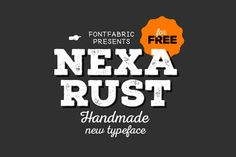 Nexa Rust Free Font is a multifaceted font system consisting of font sub-families Sans, Slab, Script, Handmade and Extras.Each of these sub-families contains a number