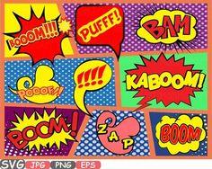 Items similar to Superheroes Pop Art Text Props Super hero Comic Speech Bubble clipart Party Bunting Cutting Files Digital svg eps png jpg Vinyl sale on Etsy Kindergarten Art Lessons, Art Lessons For Kids, Art Lessons Elementary, Pop Art, Comic Text, Blog Websites, Middle School Art, Arte Pop, Elements Of Art
