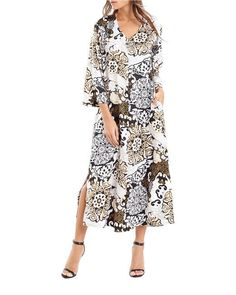 N by NATORI BLOSSOM SHADE CHARMEUSE CAFTAN GOWN SMALL ZC0119 NEW $78 NWT #Natori #Gowns