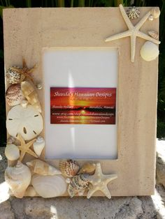 Seashell Starfish Picture Frame Nautical by shandahawaiiandesign, $35.00