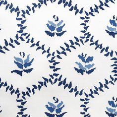 Chloe Hand Screen Printed fabric and wallpaper. #bernardthorp #masterartisans #madeinlondon #madeinengland #blue #blueandwhite #linen #interiordesign #luxurylife #homefurnishings #interiordesignideas #home #colorsoflife #fabrics #chelsea #customcolor #inspiration #designinspiration #love
