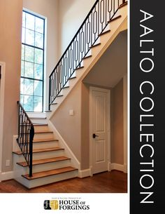 House of Forgings brand iron balusters are known for being the highest quality balusters with the best powder coated and custom faux finishes. Our Aalto collection is a compliment to the modern design and aesthetic. Website: http://houseofforgings.net/ Call Us: (866) 443.4848 Email: sales@houseofforgings.net #StairRemodel #InteriorDesign #Stairs #IronBalusters #Stairparts #Staircase